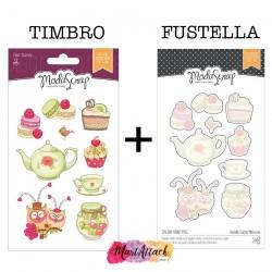 Bundle Modascrap CUCINA WITH LOVE Timbro + fustella