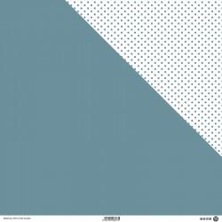 1 Foglio Cartoncino MODASCRAP - PASTEL GRAY BLUE - DOUBLE FACE 30,5x30,5cm