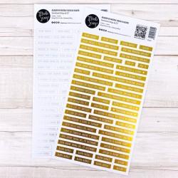 Sentiment Strips Modascrap - AUGURI DI NATALE GOLD & SILVER