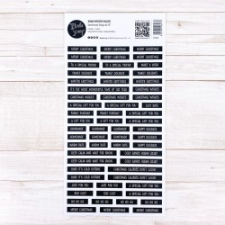 Sentiment Strips Modascrap - XMAS WISHES BLACK