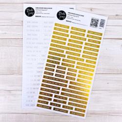 Sentiment Strips Modascrap - XMAS WISHES GOLD & SILVER