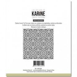 Stencil Les Atelier de Karine - Cahier d'Automne Moucharabieh