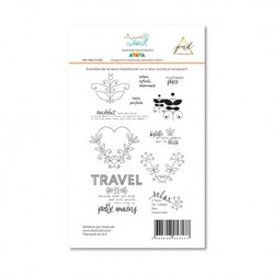Timbri Clear Stamps PaperNova Design - Trip to the Island -2