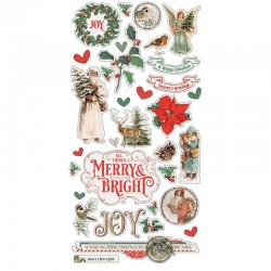 Simple Stories - Country Christmas - Chipboard