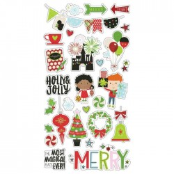 Simple Stories - Say cheese Christmas - Chipboard