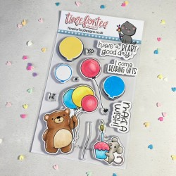 Set timbri Time for Tea Birthday Bear