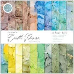 Pad di carte Craft Consortium - Ink drop - Earth