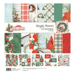 """Simple Stories -Country christmas Collection Kit 12x12"""" 71pz"""